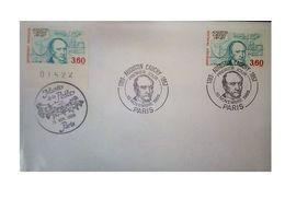 France 1989 1er Jour Avec Oblitération Spéciale N° 2610 Cauchy Mathématicien Physicien - 1980-1989