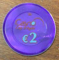 34 CAP D'AGDE CASINO JETON DE 2 EURO N° 00779 CHIP TOKEN COIN - Casino