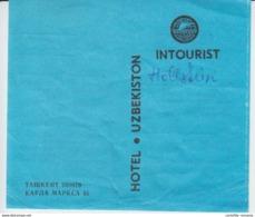 Tashkent - Uzbekistan - Hotel Uzbekiston - Intourist Hotels - Ticket - Voucher - See Verso - Eintrittskarten