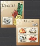 BC484 2012 GUINE GUINEA-BISSAU NATURE MINERAIS 1KB+1BL MNH - Minerali