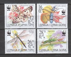 Serbia 2004 Mi 3173-3176 MNH WWF INSECTS BUTTERFLIES - Unused Stamps