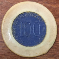 06 BEAULIEU SUR MER CASINO JETON DE 100 ANCIENS FRANCS N° 1942 CHIP TOKEN COIN - Casino