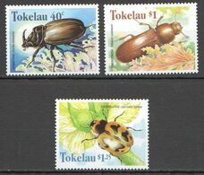 A469 1998 TOKELAU FLORA & FAUNA INSECTS BEETLES 3ST MNH - Otros
