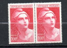 FRANCE N° 733 100F CARMIN TYPE MARIANNE DE GANDON POINT ROUGE AU COU TENANT A NORMAL NEUF SANS CHARNIERE - Ongebruikt