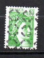 FRANCE N° FRANCE N° 1970 0.80 VERT TYPE SABINE PARAOBLITERE - Curiosa: 1970-79 Postfris