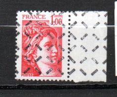 FRANCE N° 1972 1.00 ROUGE TYPE SABINE PARAOBLITERE - Curiosa: 1970-79 Postfris