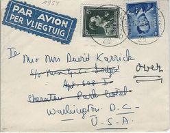 Boudewijn  Nr. 926  +   Leopold III  -   Per VLIEGTUIG Naar  Washington D.C.  -   1954  Bruxelles - Belgium