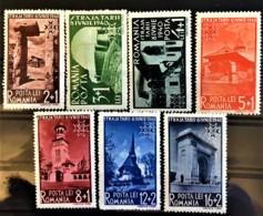 ROMANIA 1940 - MLH - Sc# B128, B130, B131, B132, B133, B134 - Unused Stamps