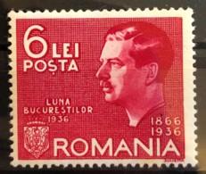 ROMANIA 1936 - MLH - Sc# B55 - 6L - Unused Stamps