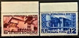 ROMANIA 1939 - MLH - Sc# 489, 490 - 6L 12L - Unused Stamps