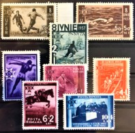 ROMANIA 1937 - MLH - Sc# B69-B76 - Complete Set! - 8. Junie 1937 - Unused Stamps