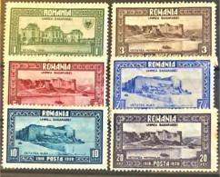 ROMANIA 1928 - MLH - Sc# 329, 331, 332, 333, 334, 335 - Unused Stamps
