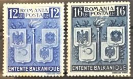 ROMANIA 1940 - MLH - Sc# 504, 505 - Entente Balkanique - Unused Stamps