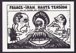 CPM Iran Perse Tirage Limité 80 Ex Numérotés Non Circulé Khomeiny Mitterrand Chirac - Irán