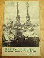 Haven Van Gent Met Plan 1966 44 Blz Drietalig - Histoire