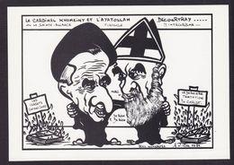 CPM Iran Perse Tirage Limité 85 Ex Numérotés Non Circulé Khomeiny Decourtray - Irán