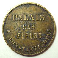 Rare Turkish Token - Palais Des Fleurs Constantinople - Bon Pour 50 Centimes - Jeton Turquie - Monetari / Di Necessità