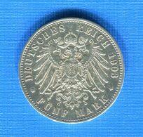 ALL  5  MARK  1903 - 2, 3 & 5 Mark Argent