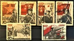 USSR 1938 - Canceled - Sc# 629, 630, 631, 633, 634, 635 - 1923-1991 USSR