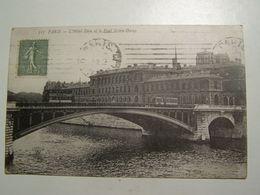 D75D  PARIS L Hotel Dieu Et Le Pont Notre Dame - Ponts