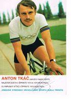 JEUX OLYMPIQUES - AUTOGRAPHE SUR PHOTO - TCHECOSLOVAQUIE - TKAC - CYCLISME - - Autographes