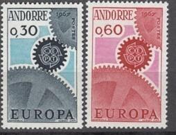 ANDORRA Franz. 199-200, Postfrisch **, Europa CEPT 1967 - French Andorra