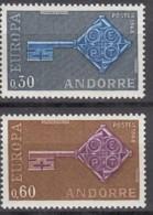 ANDORRA Franz. 208-209, Postfrisch **, Europa CEPT 1968 - French Andorra