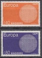 ANDORRA Franz. 222-223, Postfrisch **, Europa CEPT 1970 - French Andorra