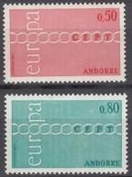 ANDORRA Franz. 232-233, Postfrisch **, Europa CEPT 1971 - French Andorra