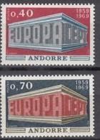 ANDORRA Franz. 214-215, Postfrisch **, Europa CEPT 1969 - French Andorra