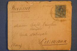 D 82 ESPAGNE LETTRE 1919 BURGOS POUR CARMAUX FRANCE + BEAU TEMOIGNAGE DE 2 LETTRES - 1889-1931 Royaume: Alphonse XIII