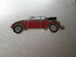 PIN'S   VOLKSWAGEN  COCCINELLE  CABRIOLET   Email Grand Feu - Volkswagen