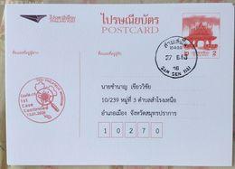 "Entire Pre-paid Postcard: THAILAND - 2020 - COVID-19 ""1st Case Cobfirmed"" Red Propaganda Postmark - Disease"