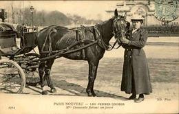 FRANCE - Carte Postale - Métiers - Paris Nouveau - Femme Cocher - L 66450 - Petits Métiers à Paris