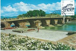 Macedonia - Maximum Card - Skopje,Stone Bridge - Macedonia