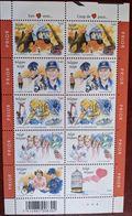 Belgium, 2003, Michel 3199-3204, Fireman-police-doctor-postman & Valentine, Minisheet 2 X 5 V, MNH - Feuerwehr