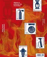 Belgium, 2017, Michel 4723-4727, Help Prevent Fire, Minisheet 5v, Blok 211, MNH - Feuerwehr