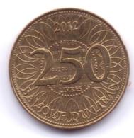 LEBANON 2012: 250 Livres, KM 36a - Libano