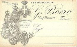 """8864""""LITOGRAFIA G. BOERO-TORINO""""-CARTOLINA POSTALE ORIGINALE SPEDITA1909 - Commercio"""