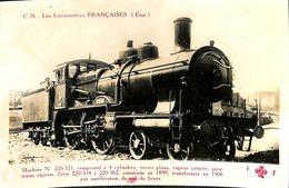 030 004 - CPSM - Thèmes - Les Locomotives Française - Machine N°220-521 - Trains