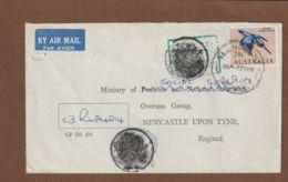 Australia Registered Letter To England  Ministry Of Social Security + Spacial Marks - 1966-79 Elizabeth II