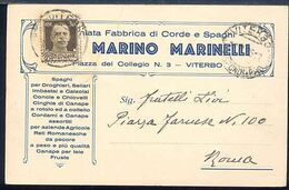 MT69 VITERBO , COMMERCIALE MARINO MARINELLI PIAZZA DEL COLLEGIO 3 , PREMIATA FABBRICA DI CORDE E SPAGHI - Viterbo