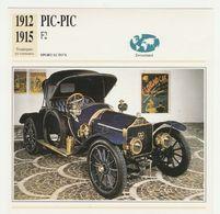 Verzamelkaarten Collectie Atlas: PIC-PIC F2 - Cars