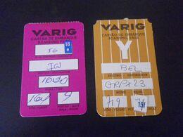 AVIATION - 2 CARTES D'EMBARQUEMENT - VARIG - Boarding Passes