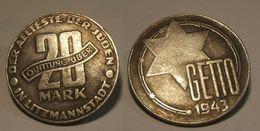 GETTO 20 MARK 1943 LITZMANNSTADT GERMAN COIN MONETA GHETTO EBREI JUDE JUIFE Auschwitz JUDE EBREI GERMANY - [ 4] 1933-1945 : Tercer Reich