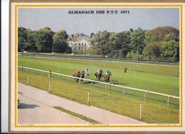 Calendrier 1971, Almanach Des P T T ,postes, Courses Longchamp, Fierté ,Departement 84 Double Face - Calendari
