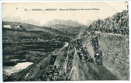 TONKIN HONGAY Mines De Charbon à Ciel Ouvert à HATOU - Cachet Postal Hanoï 1930 - Vietnam