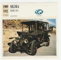 Verzamelkaarten Collectie Atlas: SIGMA SS/SE 1911 - Cars