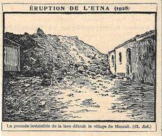 Eruption De L'Etna (1928). Stampa 1930 - Prints & Engravings