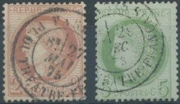 [41205]TB//O/Used-N° 51 Et N° 53, Les Deux Avec Belle Obl C.à.d 'Paris / Pl. Du Théâtre-Français'. Joint N° 52 Def Non C - 1871-1875 Cérès